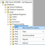 SQL Server Stored Procedure Kullanımı